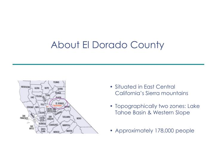 About el dorado county