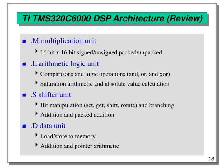 TI TMS320C6000 DSP Architecture (Review)