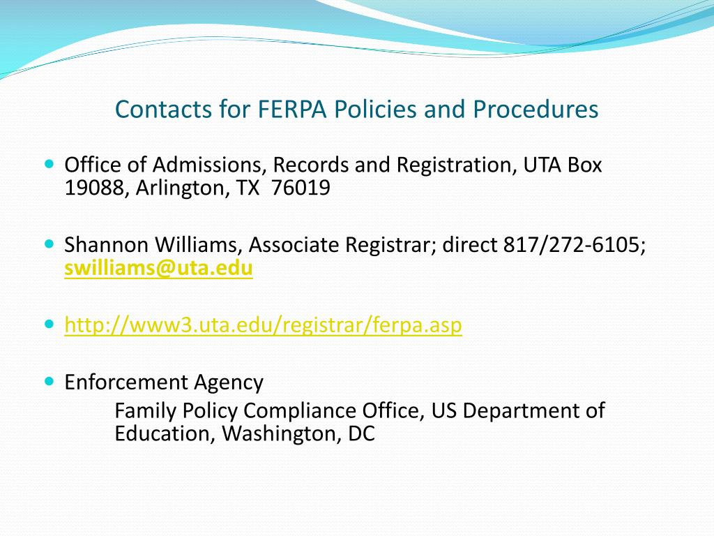 PPT - FERPA 202: Presentation for Office of Records and