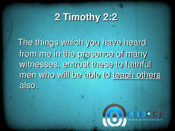 2 timothy 2 2