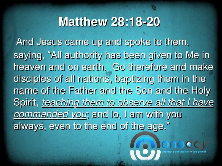 Matthew 28 18 20