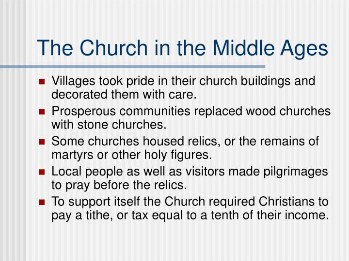 the church and the middle ages essay Free coursework on a comparison of the medieval and renaissance eras from essay during the middle ages essay uk, a comparison of the medieval and renaissance.