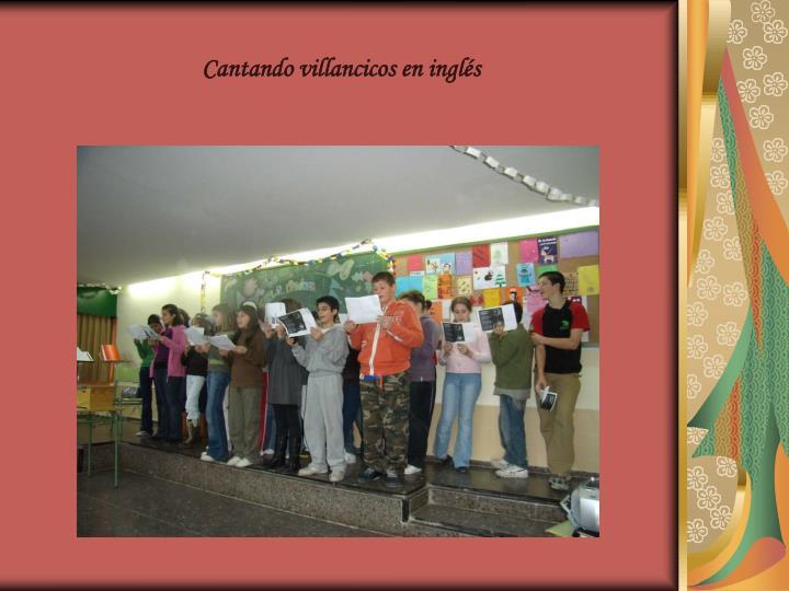 Cantando villancicos en inglés