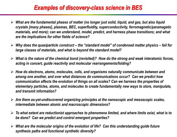 Ppt Examples Of Discovery Class Science In Bes Powerpoint