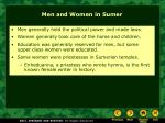 men and women in sumer