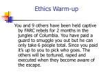 ethics warm up