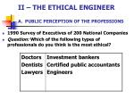 ii the ethical engineer a public perception of the professions