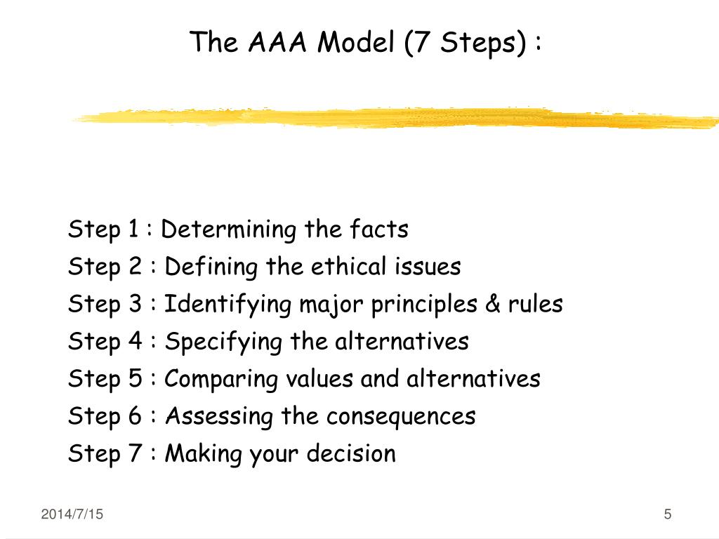PPT - Topic 5 Ethical Decision-Making Models PowerPoint