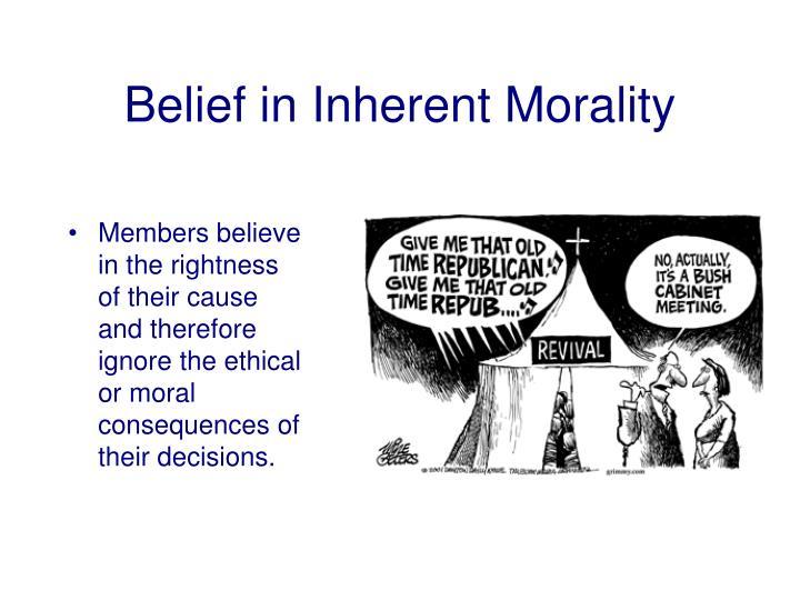Belief in Inherent Morality