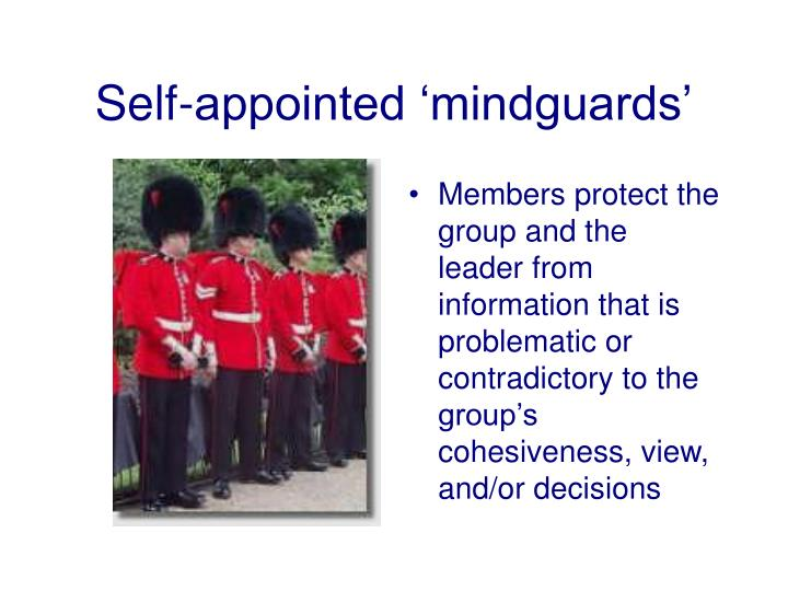 Self-appointed 'mindguards'