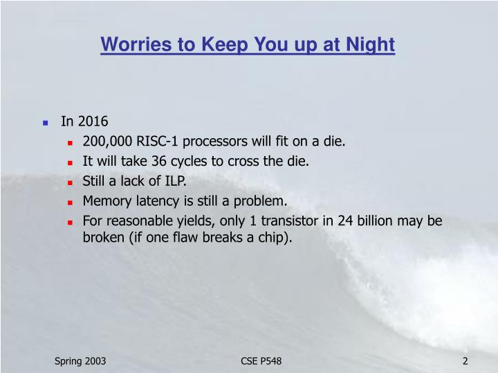 Worries to keep you up at night