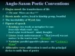 anglo saxon poetic conventions