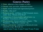 genres poetry