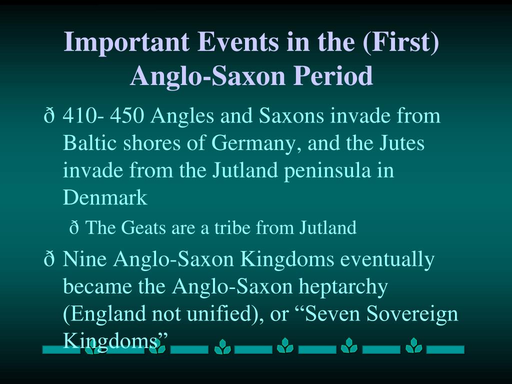 anglo saxon events