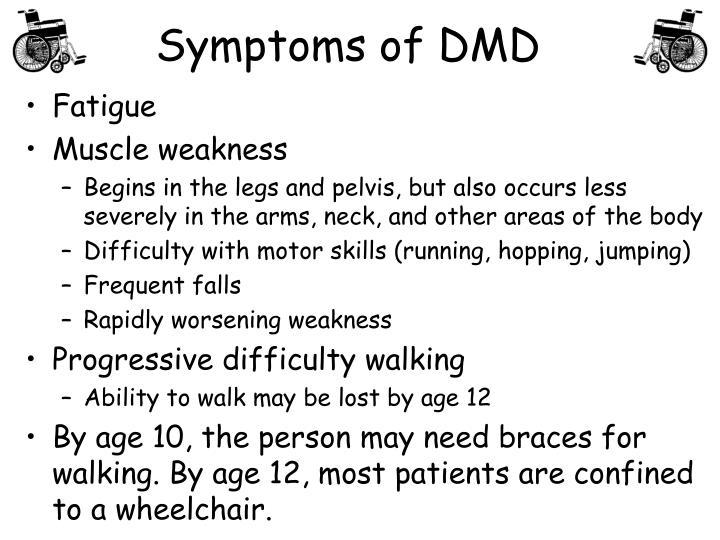 Symptoms of DMD