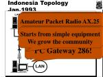indonesia topology jan 1993