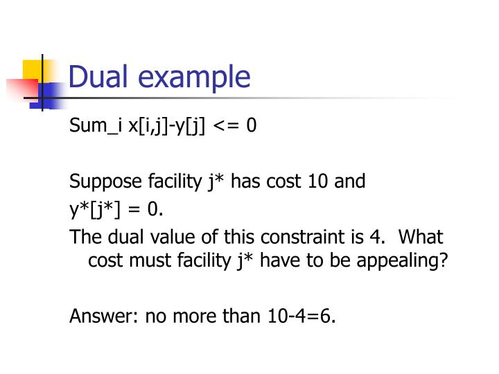 Dual example