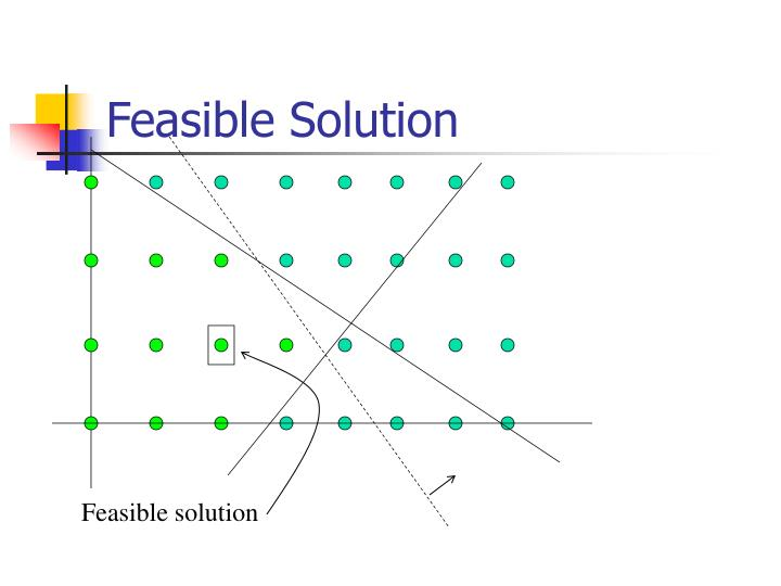 Feasible Solution