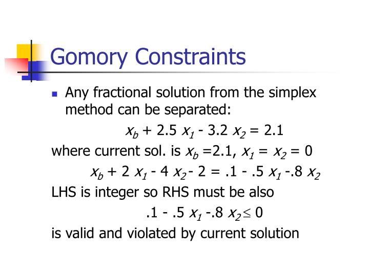 Gomory Constraints