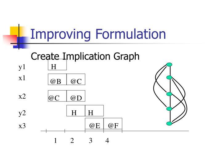 Improving Formulation