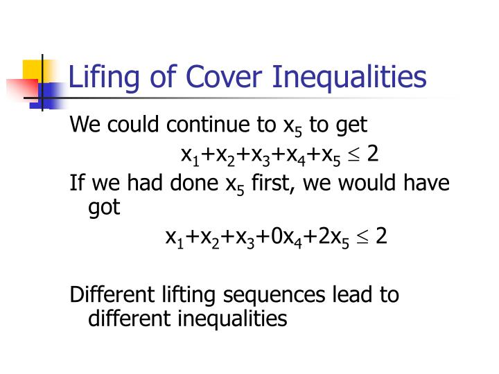 Lifing of Cover Inequalities