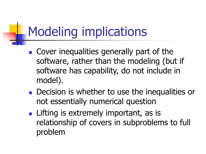 Modeling implications
