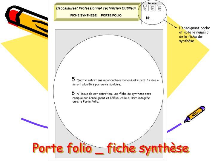 Porte folio fiche synth se