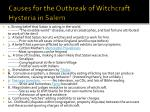 causes for the outbreak of witchcraft hysteria in salem