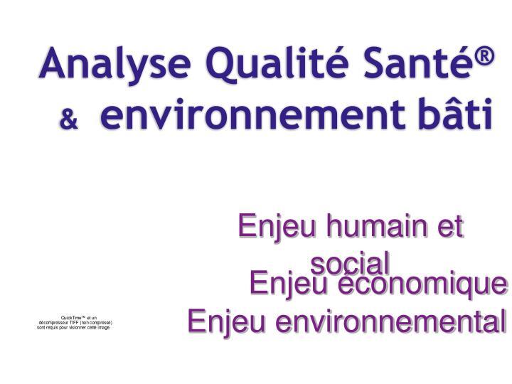 Analyse Qualité Santé