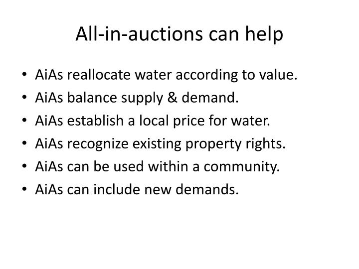 All in auctions can help