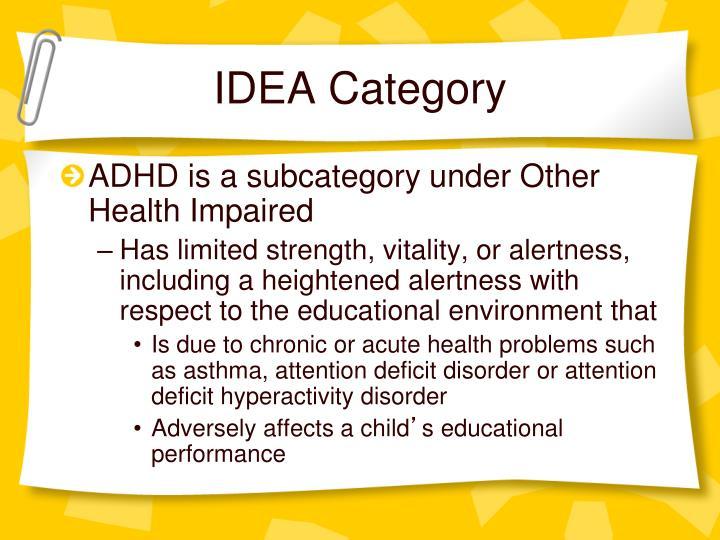 Idea category