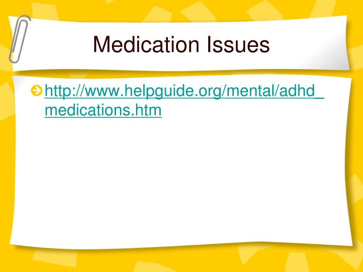 Medication Issues