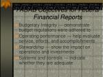 fasab objectives for federal financial reports