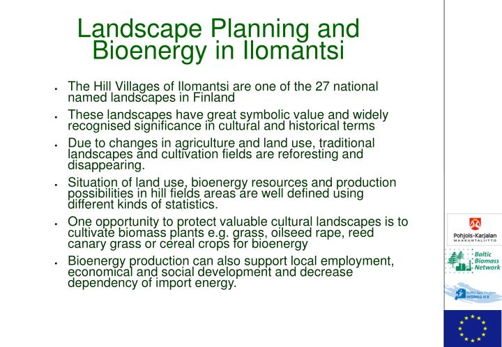 Landscape Planning and Bioenergy in Ilomantsi