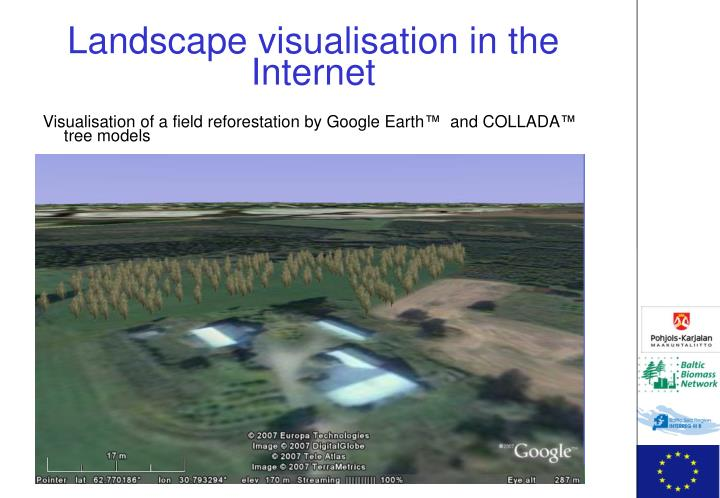 Landscape visualisation in the Internet