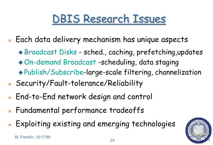 DBIS Research Issues
