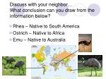 discuss with your neighbor what conclusion can you draw from the information below