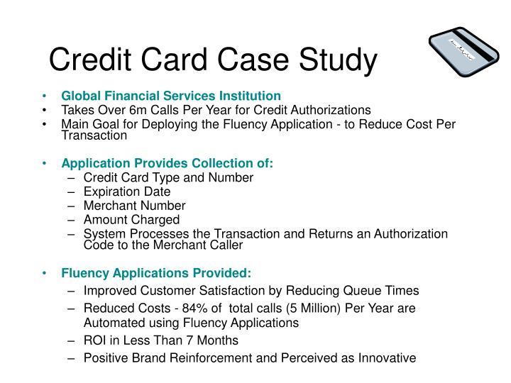 Credit Card Case Study