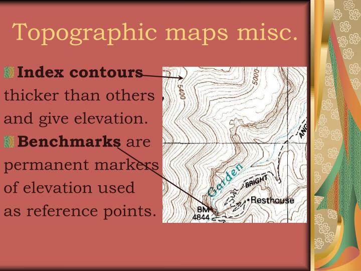 Topographic maps misc.