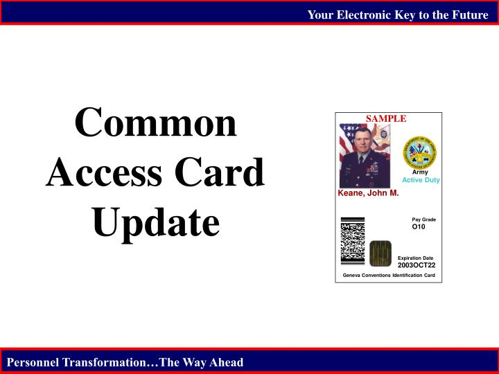 common access card update n.