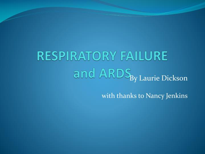 respiratory failure and ards n.