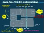 async sync fifo cell implementation