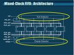 mixed clock fifo architecture