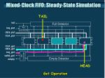 mixed clock fifo steady state simulation2