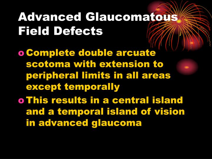 Advanced Glaucomatous Field Defects