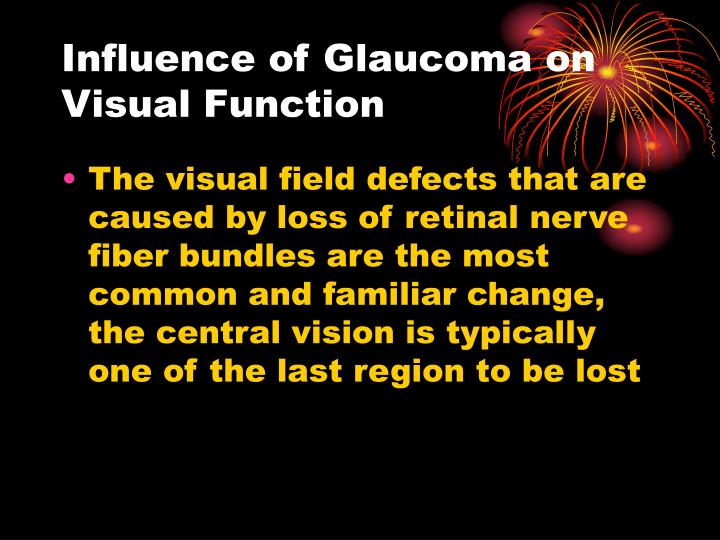 Influence of Glaucoma on Visual Function