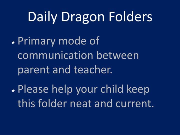 Daily Dragon Folders