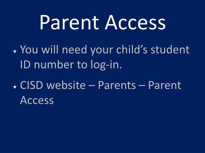 Parent Access