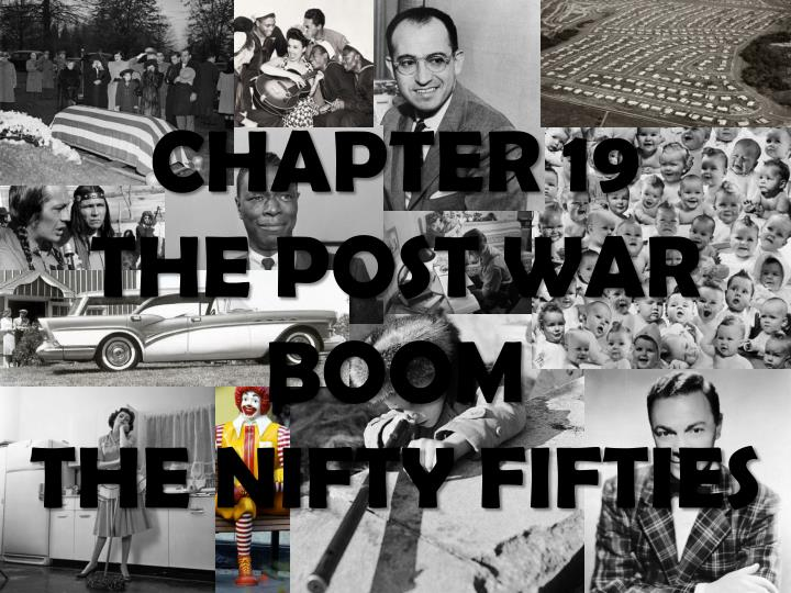 chapter 19 the post war boom the nifty fifties n.