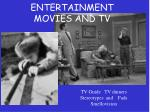 entertainment movies and tv